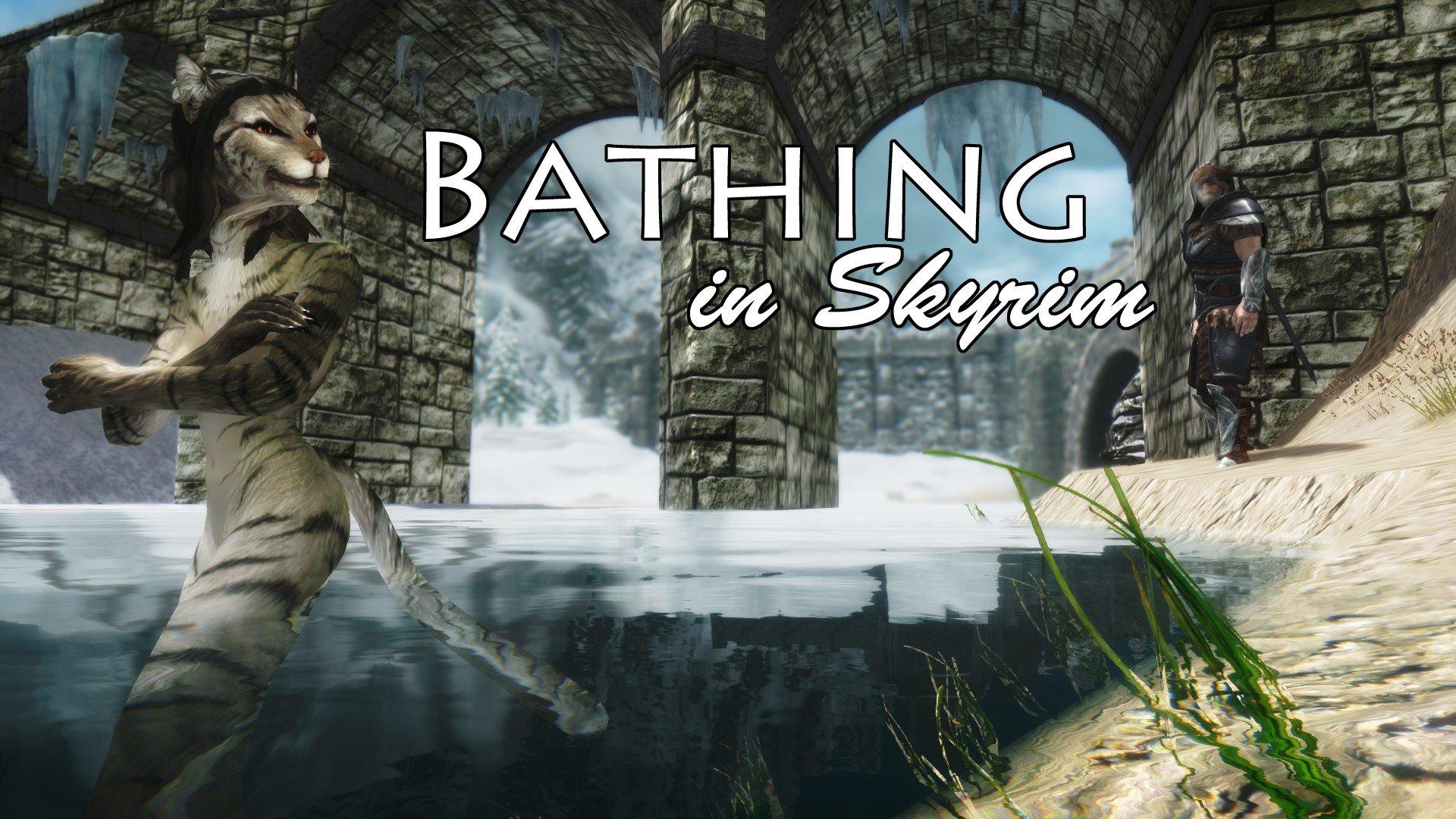 Bathing in Skyrim LE и SE Rus