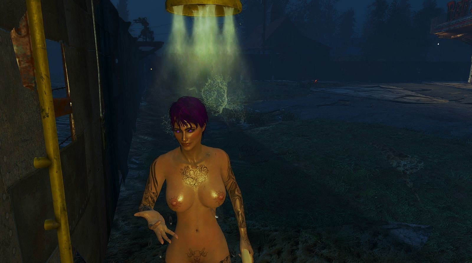 Вечерний душ.. Fallout-4 (Сборка 6.5)