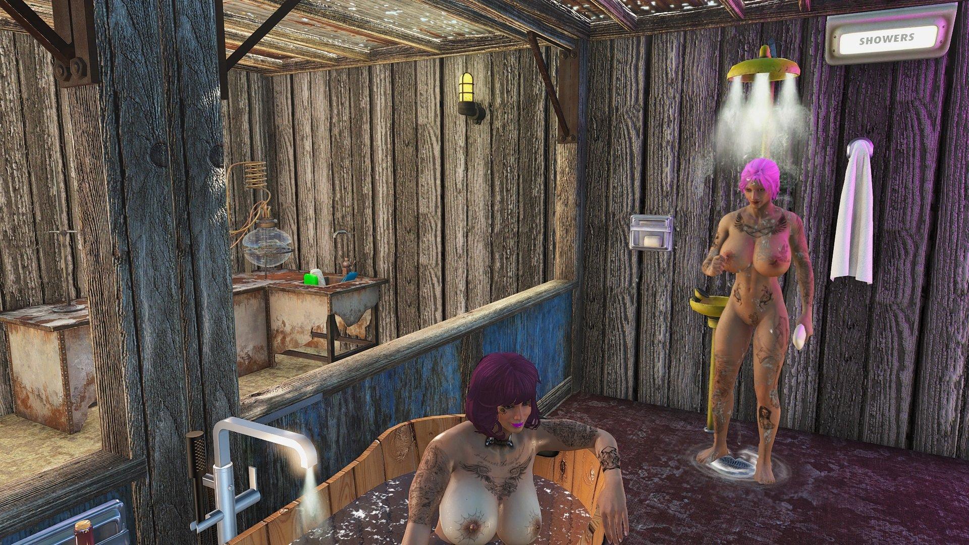 Айви под душем