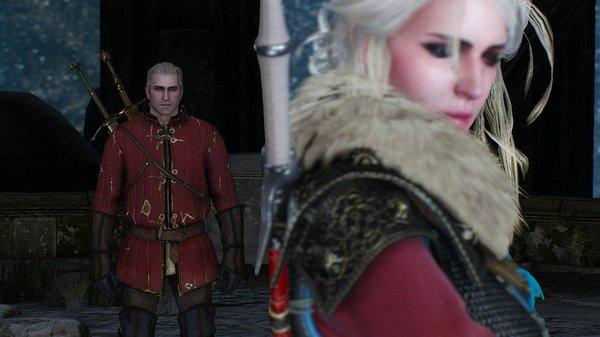 Цири и Геральт.. Ведьмак III (сборка Торна)