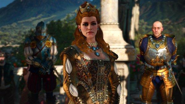 Княгиня и приближенные рыцари..