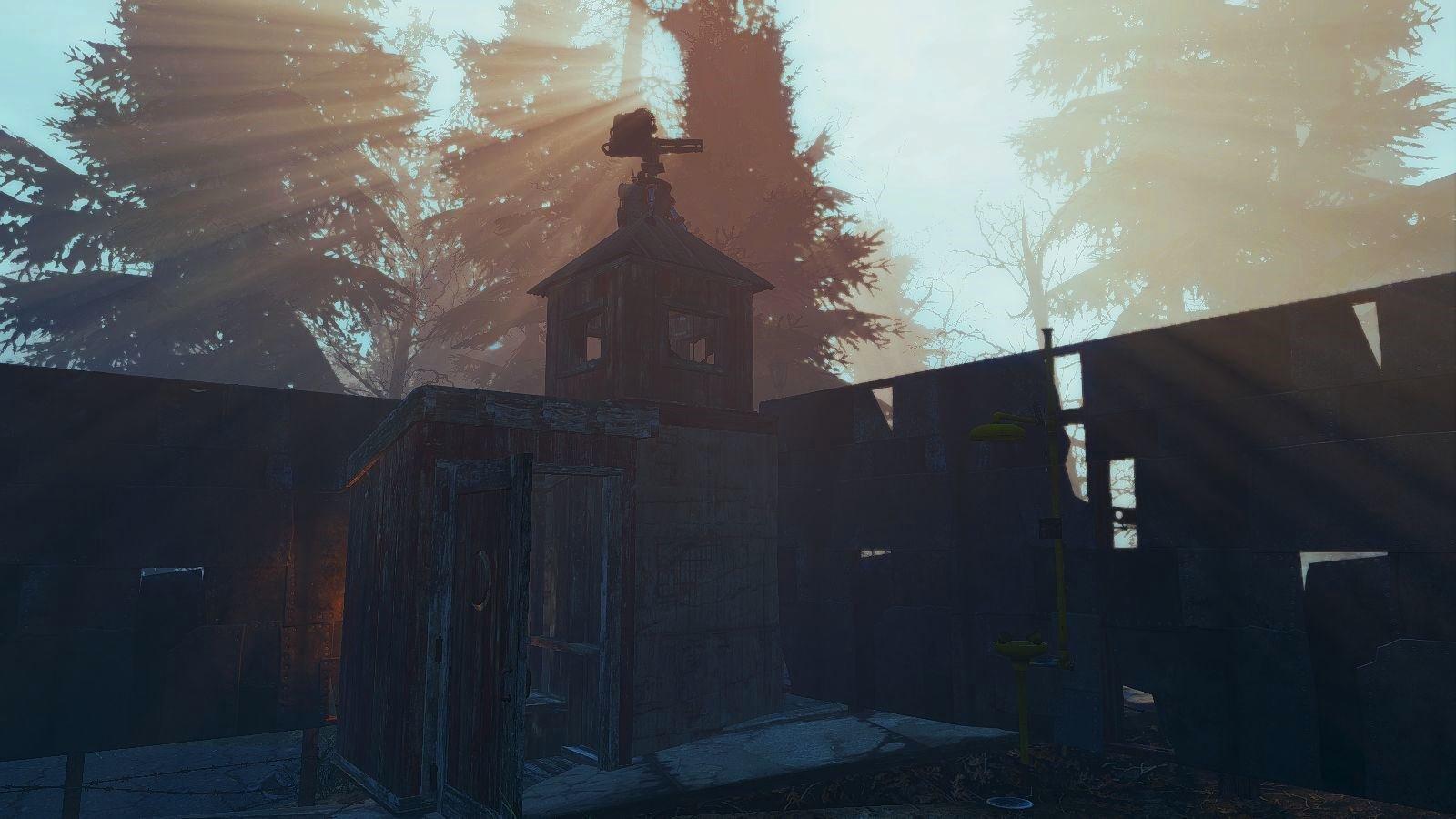 Сартир под охраной. Poselenia Windfire Fallout-4