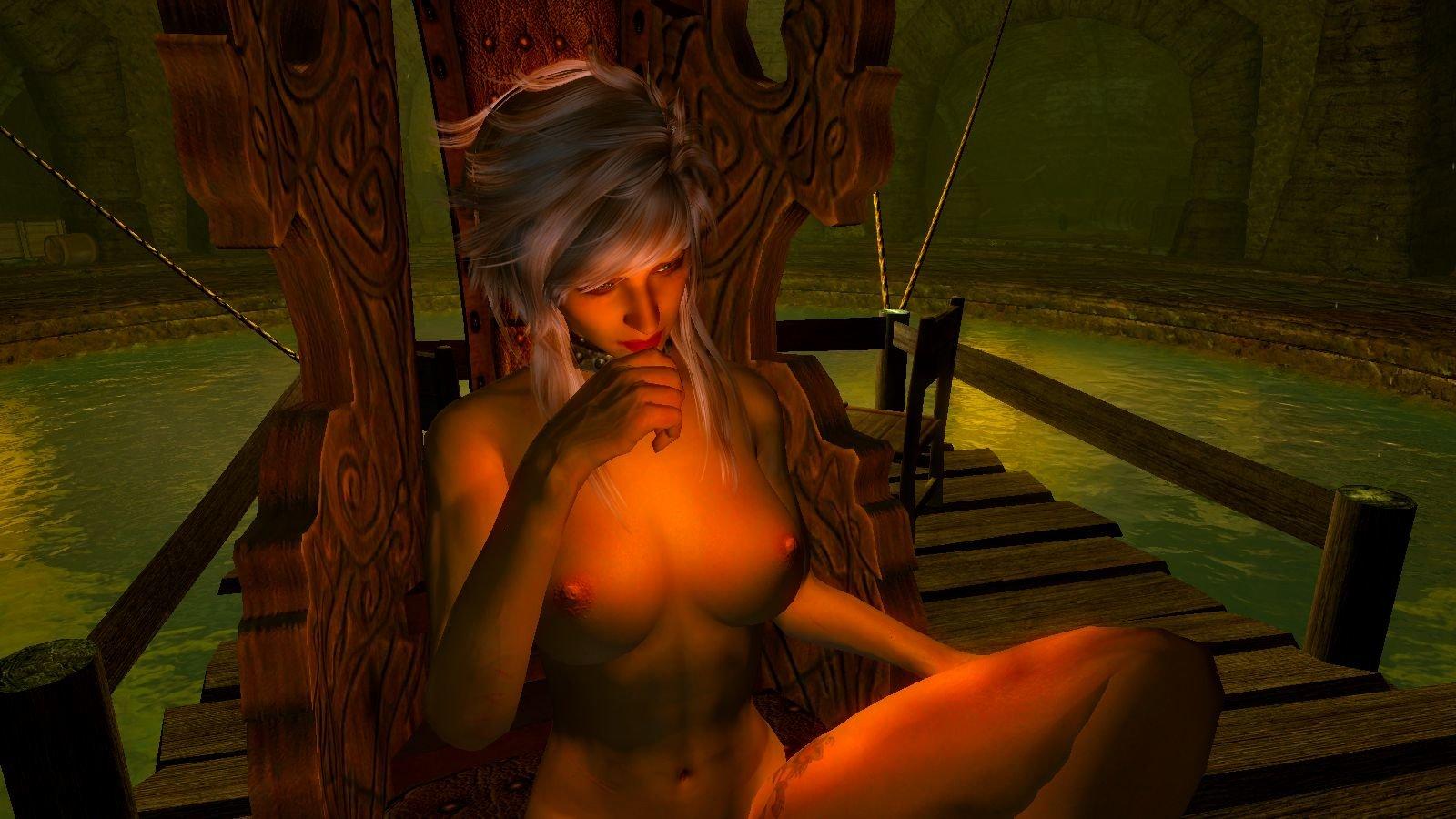 Цирилла в кресле.. SkyrimSE (сборка 6.0)