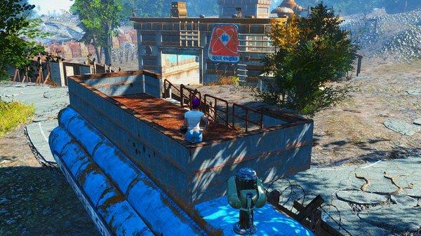 Балкон для охраны на грузовике..
