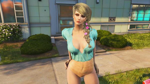 Обновлённое лицо соседки Эмили.
