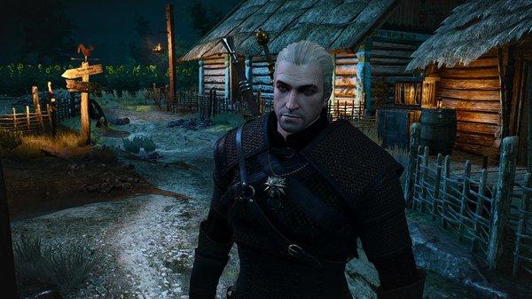 Ночью в деревне.. Ведьмак III (сборка Торна)