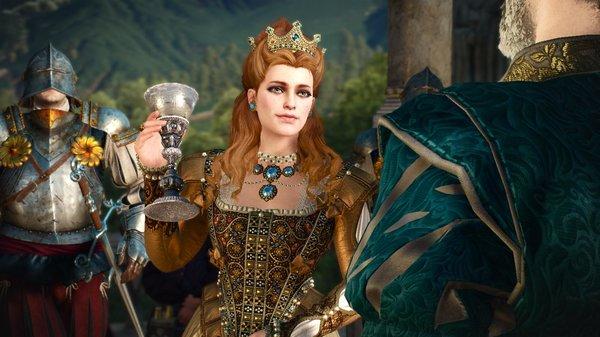 Анна-Генриетта поднимает бокал..