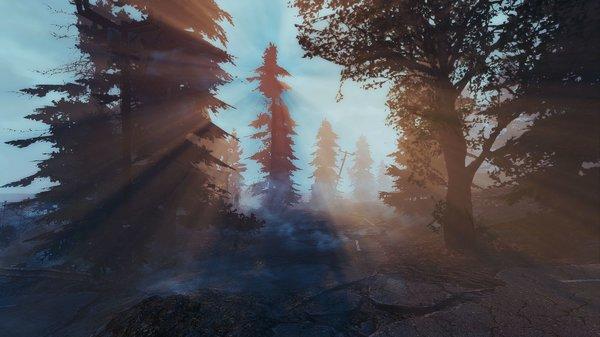 Утренний пейзаж.. Fallout-4 (Сборка 6.5)