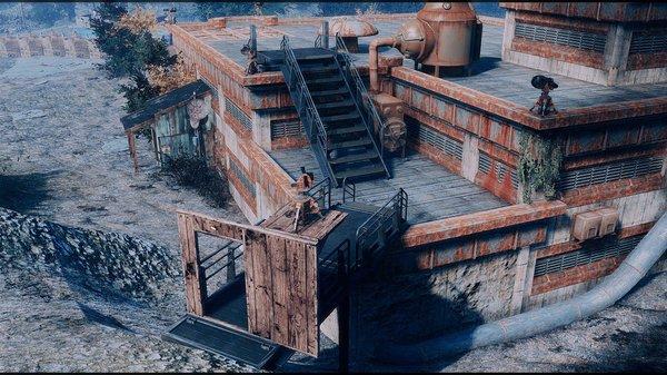 В Масс-Фьюжин выход на крышу..