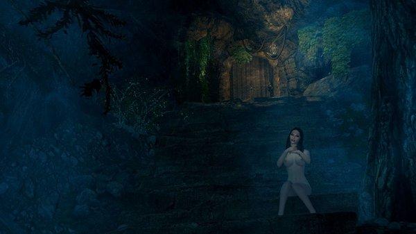 Велена у тайного входа в свой дом..