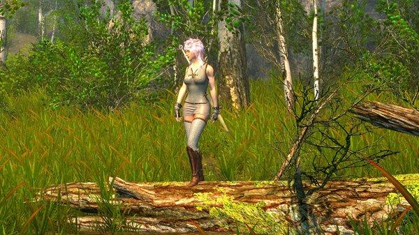 Цири в лесу.. SkyrimSE (сборка 6.0)