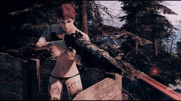 Ева топлес.. Fallout-4 (Сборка 6.5)