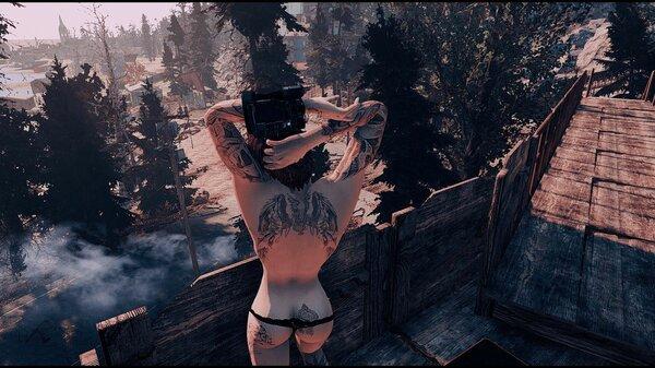 Мужественная спина ;) Fallout-4 (Сборка 6.5)