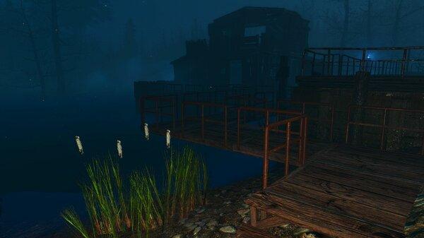 Хижина над водой на Харборе..