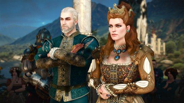 Анна Генриетта и Геральт.. Ведьмак III (сборка Торна)