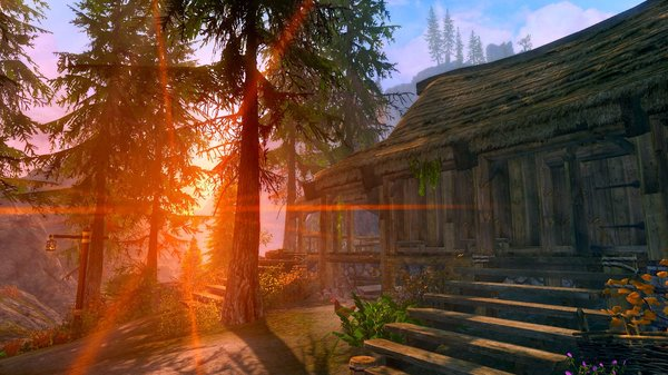 Утро в деревне.. SkyrimSE (сборка 6.0)