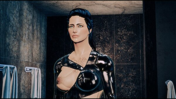 Ева в душевых.. Fallout-4 (Сборка 6.5)