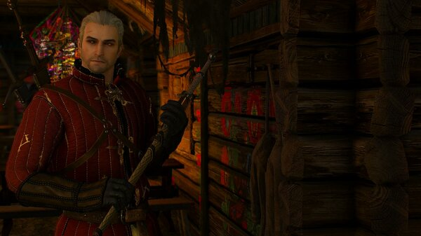 Геральт в таверне.. Ведьмак III (сборка Торна)