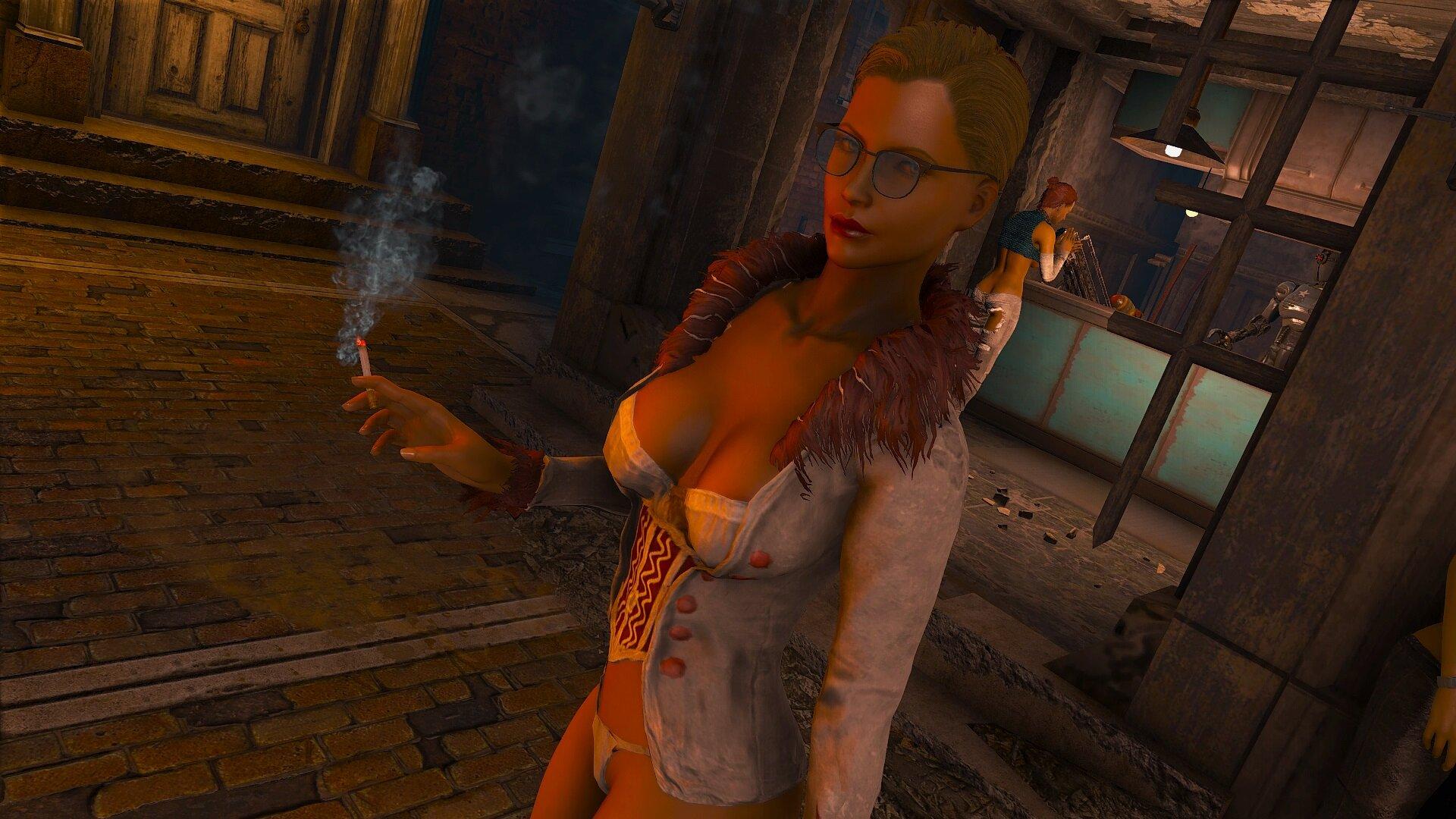 Fallout4 Айви, ночь в Добрососедстве