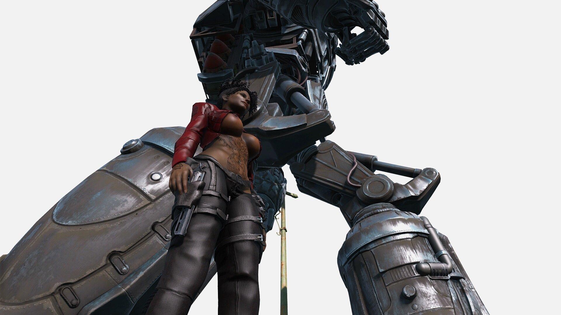 Fallout4 Эшли и Либерти Прайм