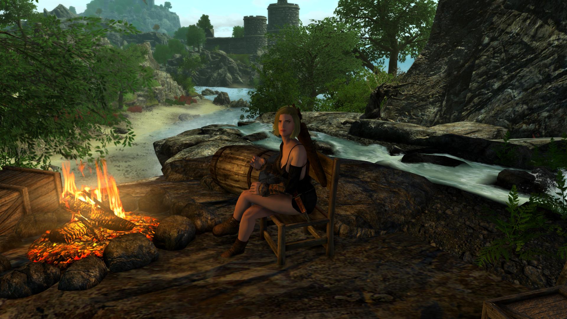 Хорошее место для лагеря. Романтичное.