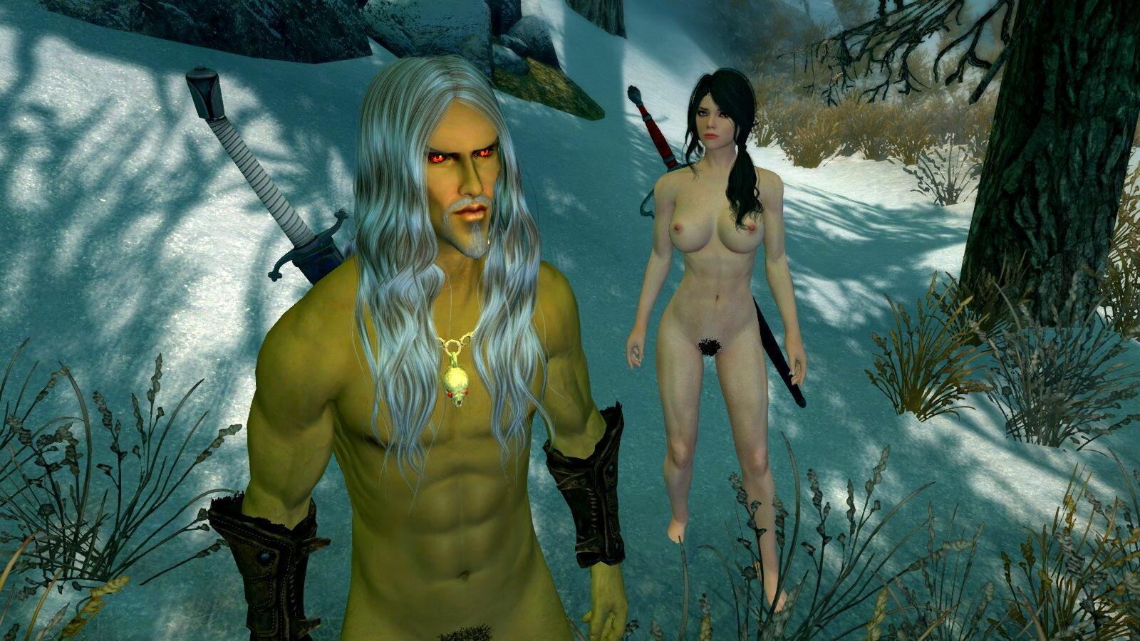 Альтмер с Софией.. SkyrimSE (сборка 6.0)