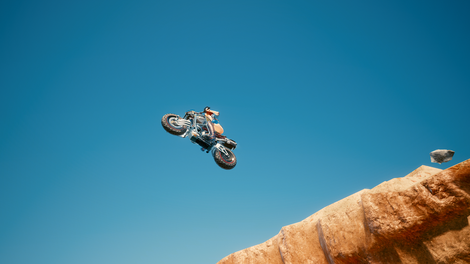 Рекордный прыжок с обрыва.