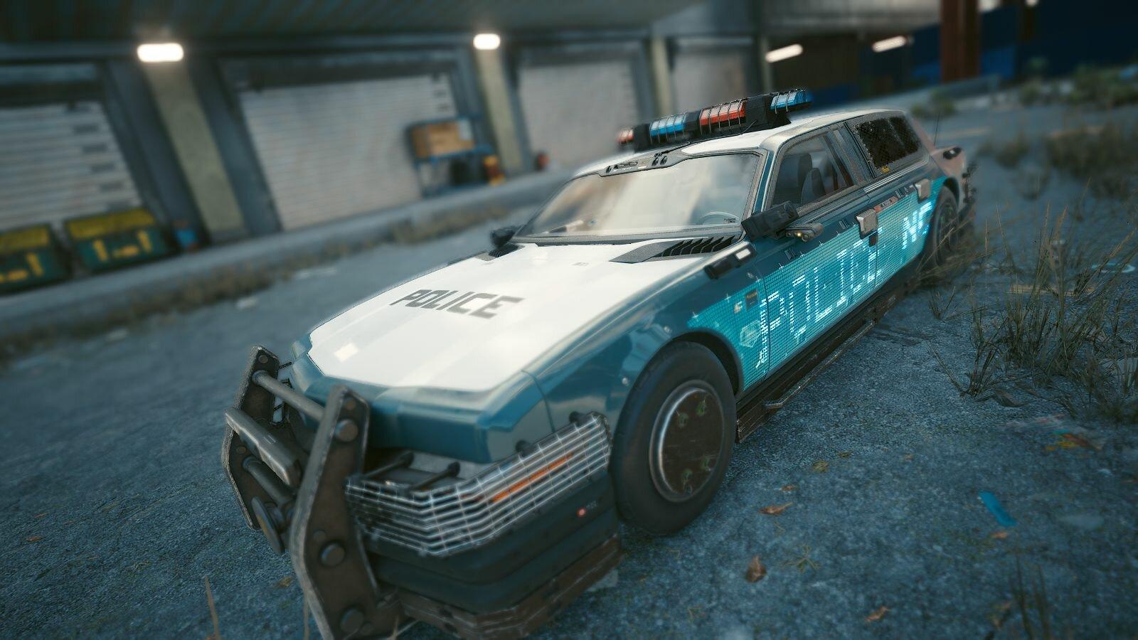 Резвая машинка полиции. Cyberpunk 2077
