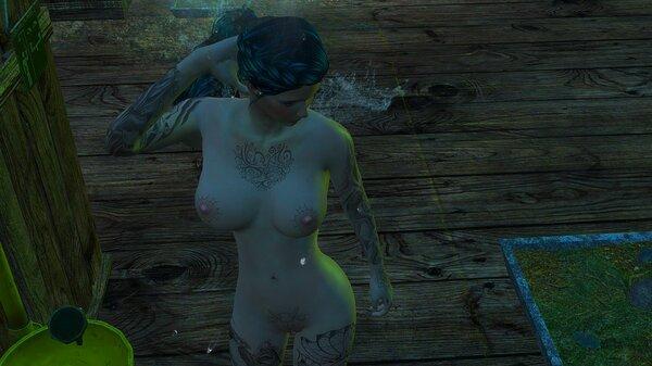 В душе после работы.. Fallout-4 (Сборка 6.5