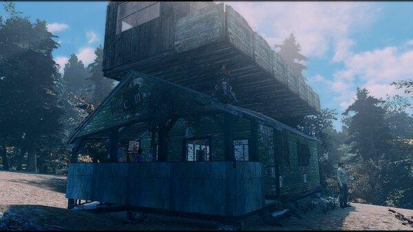 Жилая надстройка.. Poselenia Windfire Fallout-4