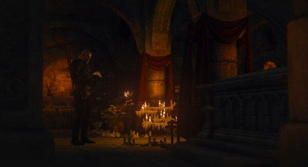 Геральт в Склепе.. Ведьмак III (сборка Торна)