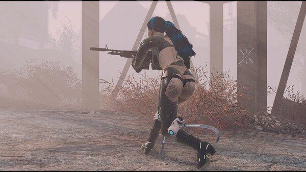 Ева крадется в тумане.. Fallout-4 (Сборка 6.5)