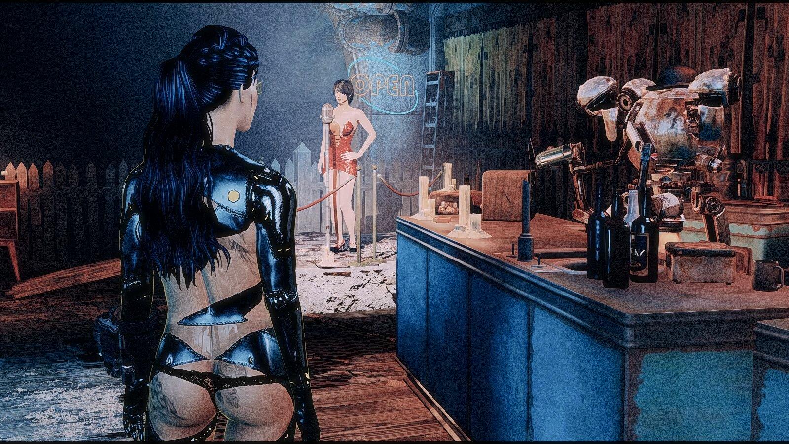 Ева в баре.. Fallout-4 (Сборка 6.5)