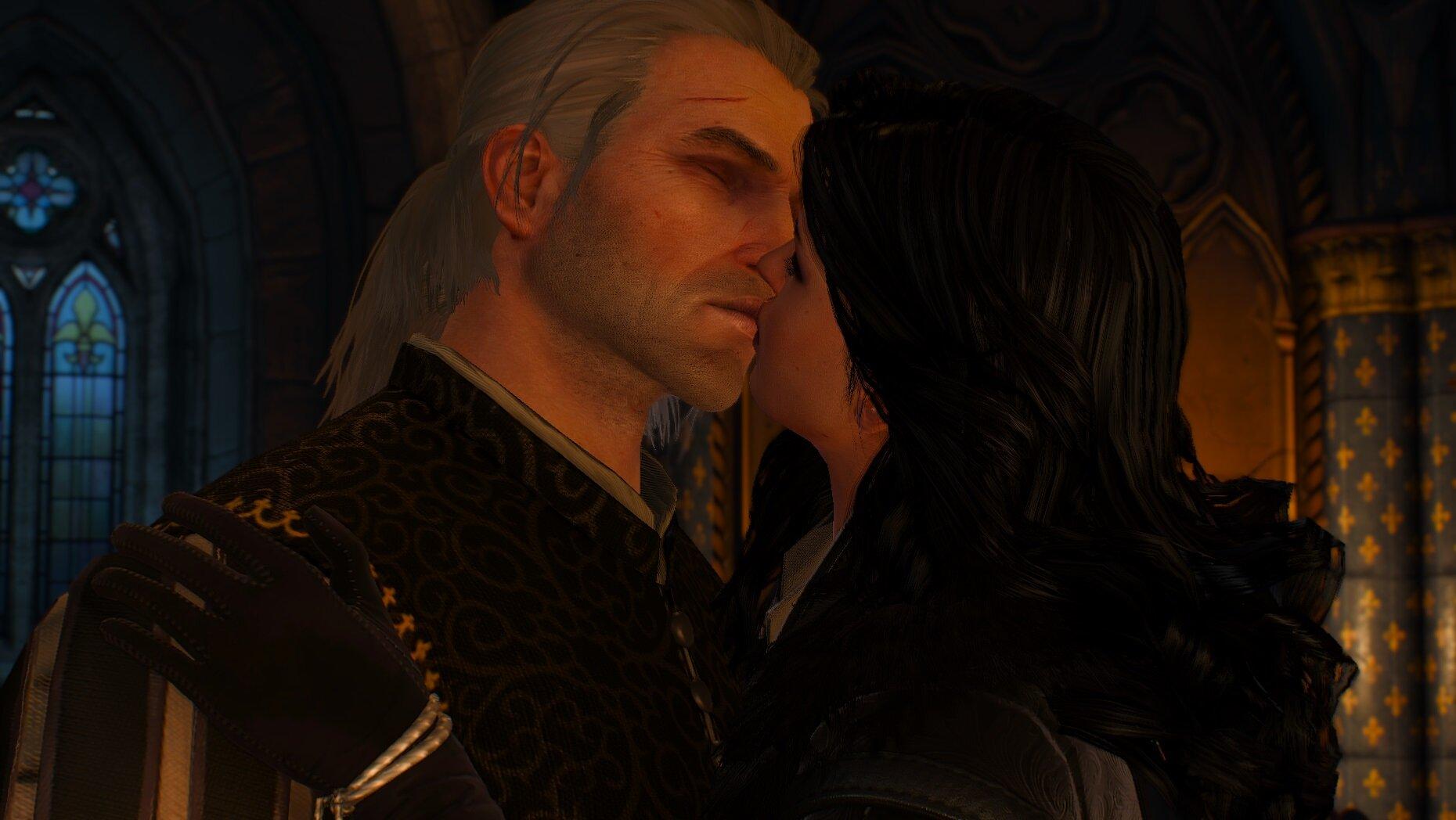 witcher3 Поцелуй на дорожку