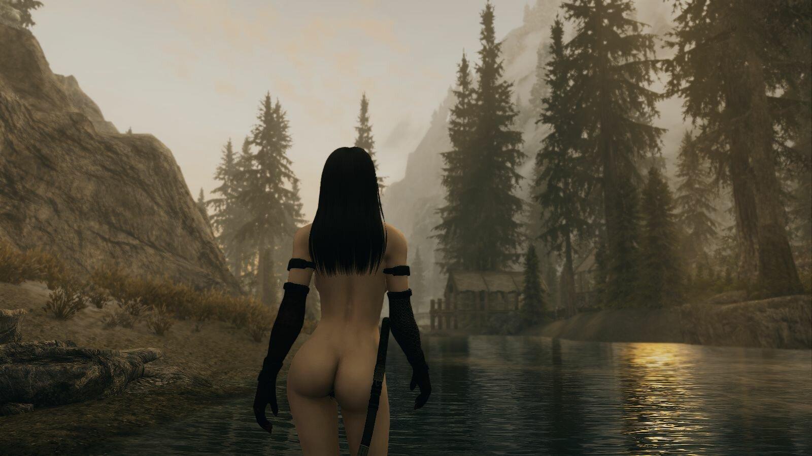 Утро на реке.. SkyrimSE (сборка 6.0)