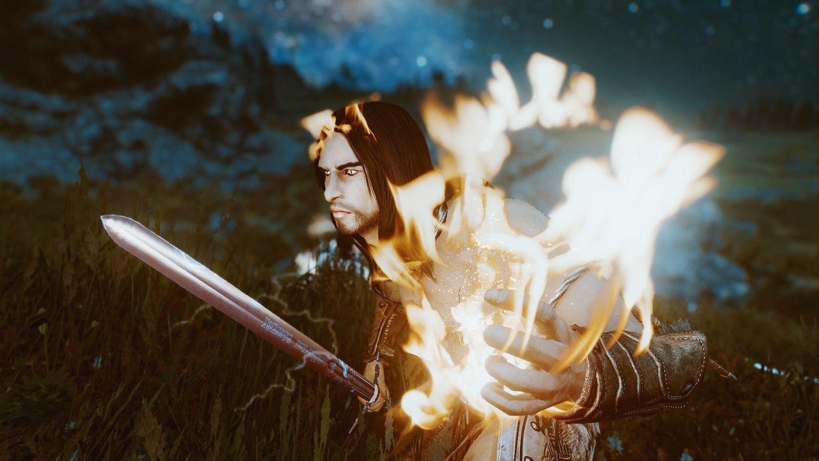 Эйран укрощает магию огня..