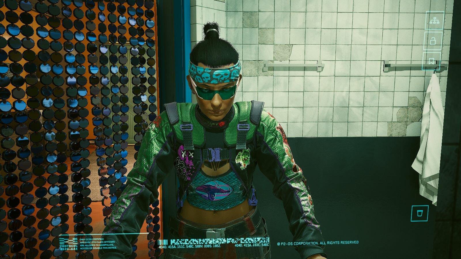 У зеркала в кафе.. Cyberpunk 2077