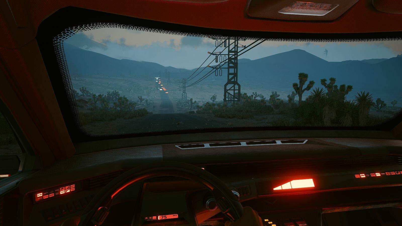 Пейзаж из кабины.. Cyberpunk 2077