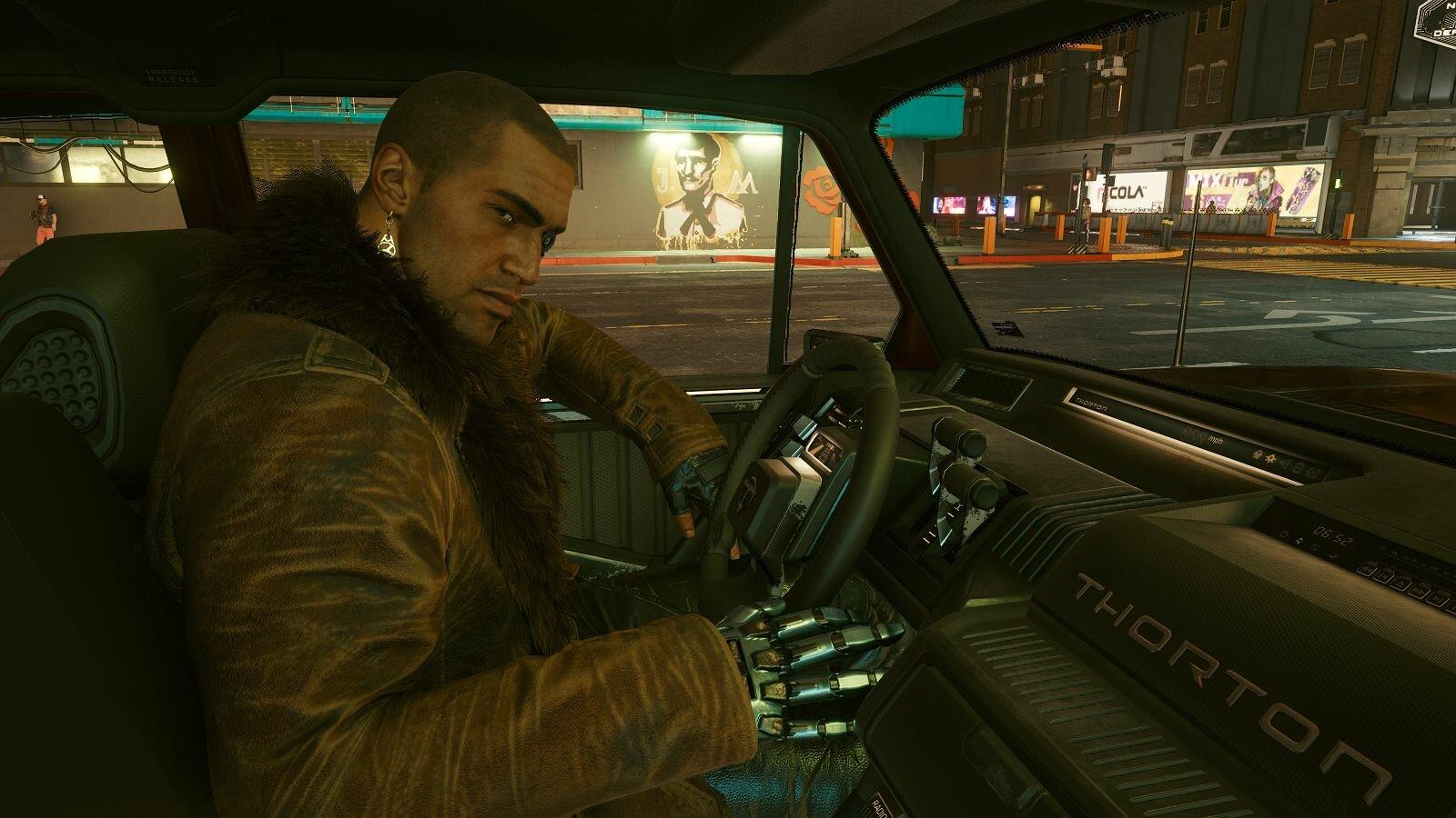 В машине с другом.. Cyberpunk 2077