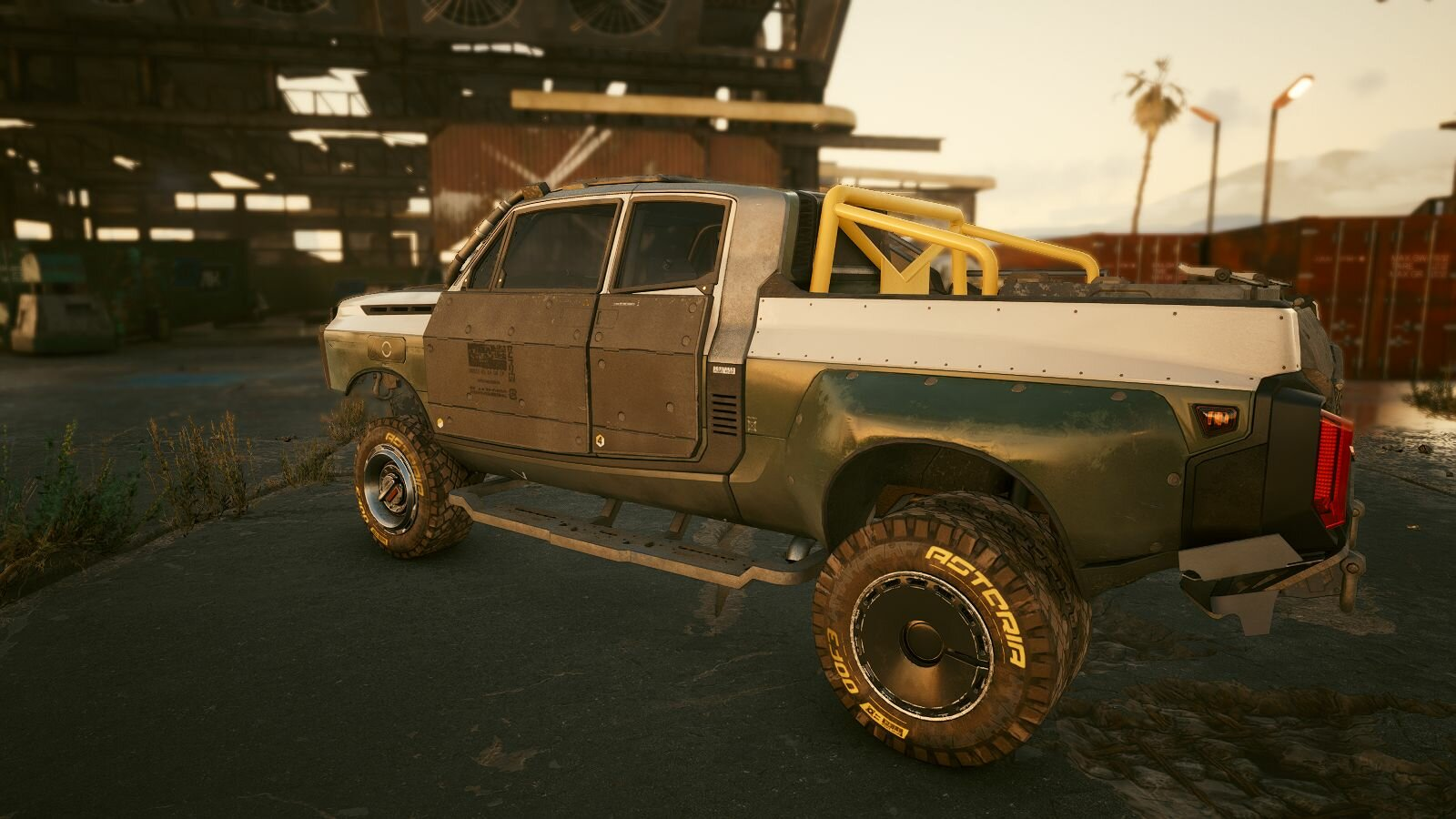 Хочу такой грузовик.. ;) Cyberpunk 2077