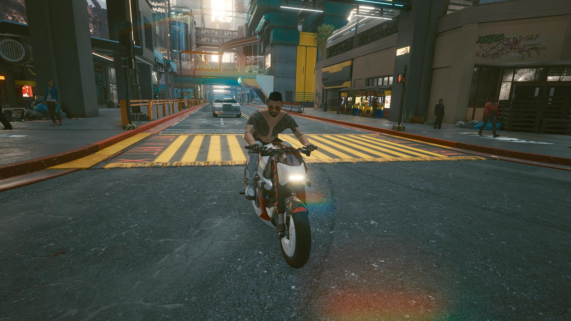 Ви на новом мотоцикле ищет новые жертвы.