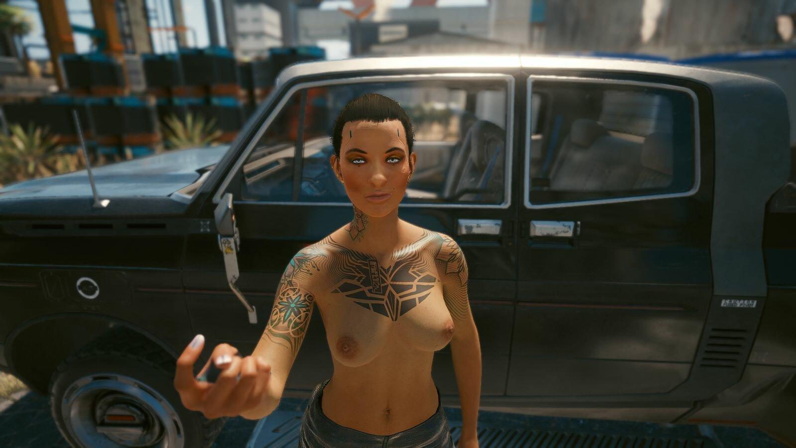 ВИ у любимой машины.. Cyberpunk 2077