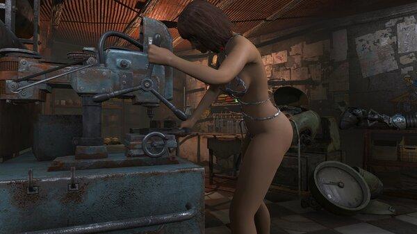 Fallout4 Рабыня на обслуживании жилья