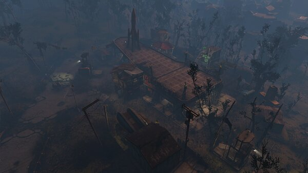 "Fallout4 Стоянка грузовиков ""Красная ракета"""