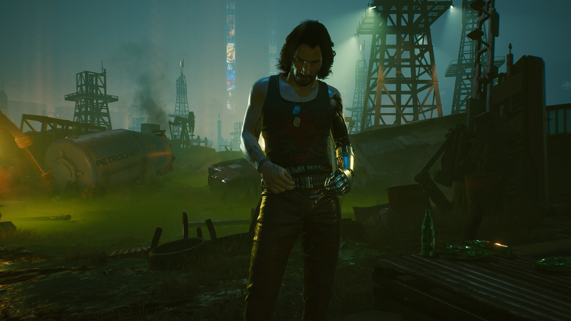 Cyberpunk 2077 у могилы Джонни