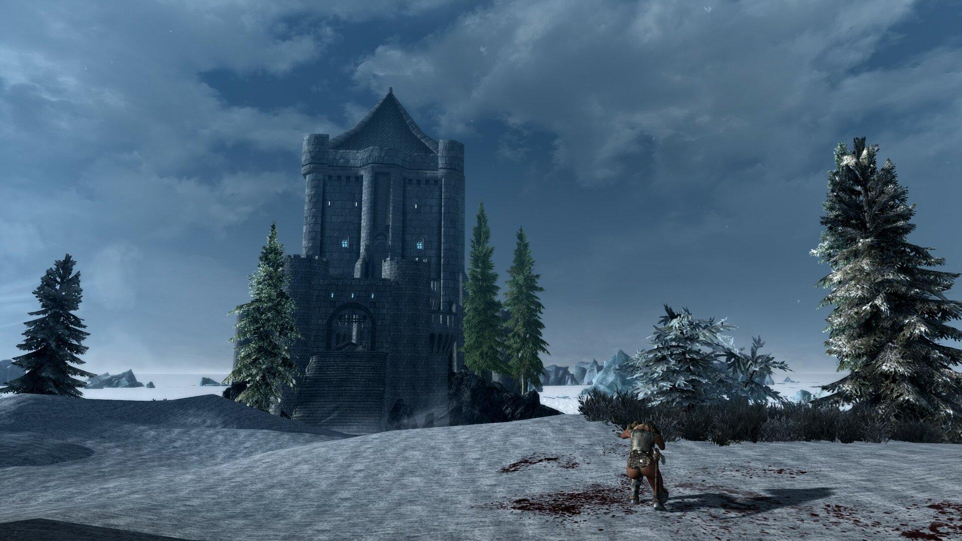 замок Монолит вселяет ужас своим грозным величием