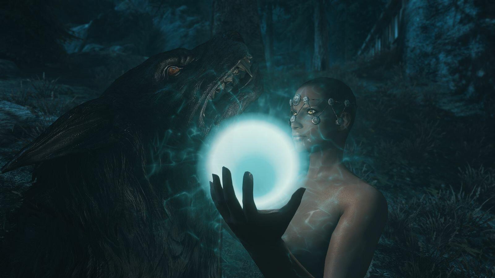 Хукарл Райя приручает вервольфа.