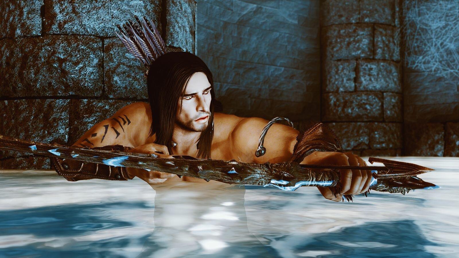 Эйран в воде притаился.. SkyrimSE (сборка 6.0)