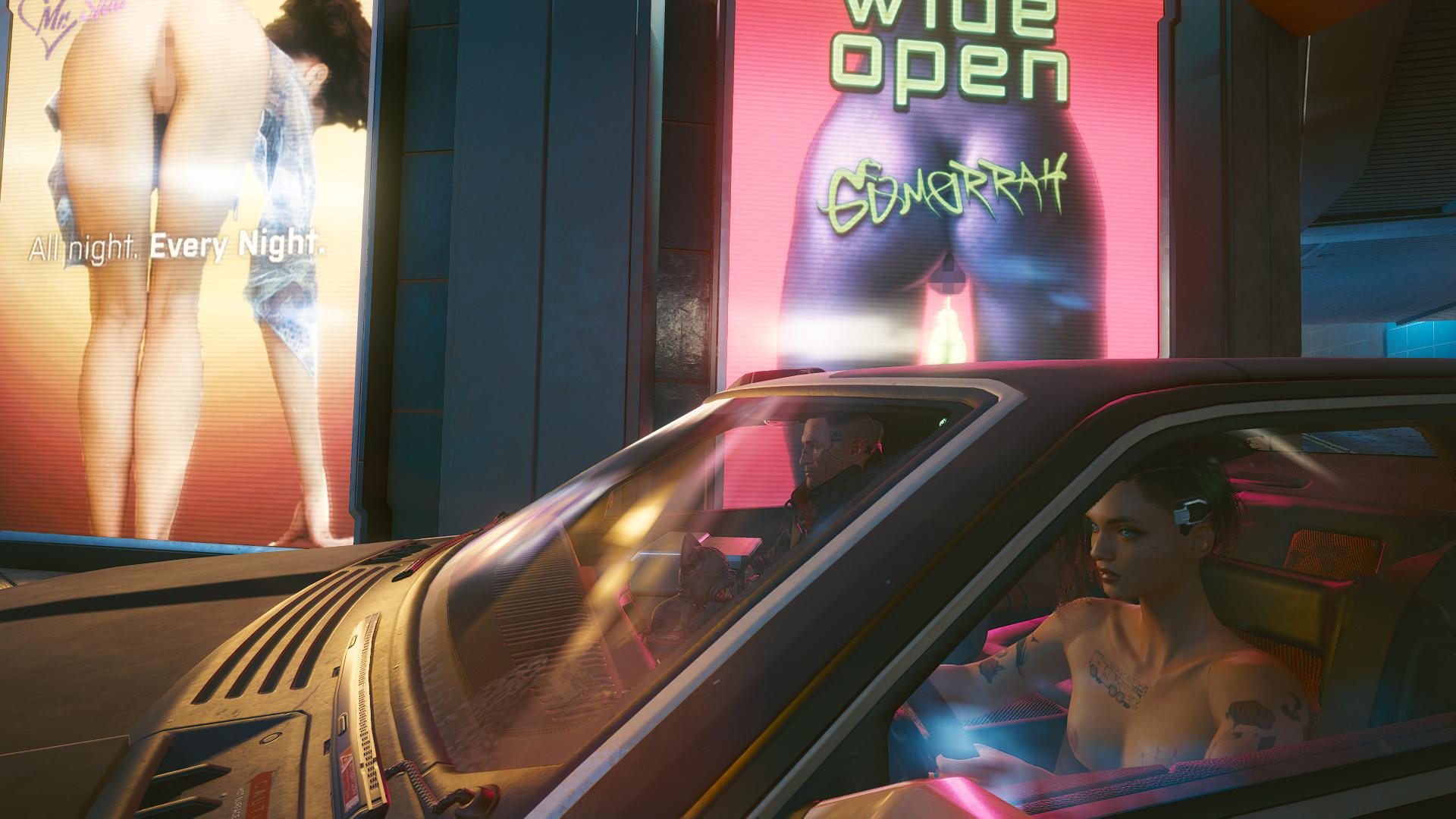 Джуди катает Джеки по ночному городу.
