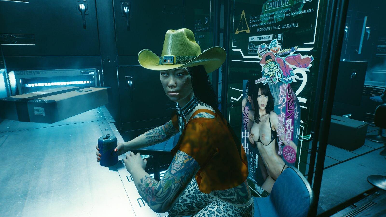Девчинка в баре.. Cyberpunk 2077